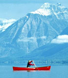 Canoeing, Adventure Activity in Glacier National Park, USA